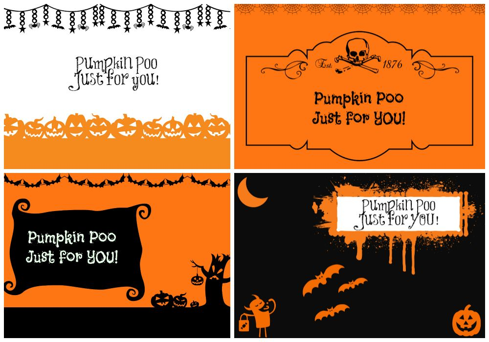 Pumpkin Poo labels, just fill bags with cheese puffs!