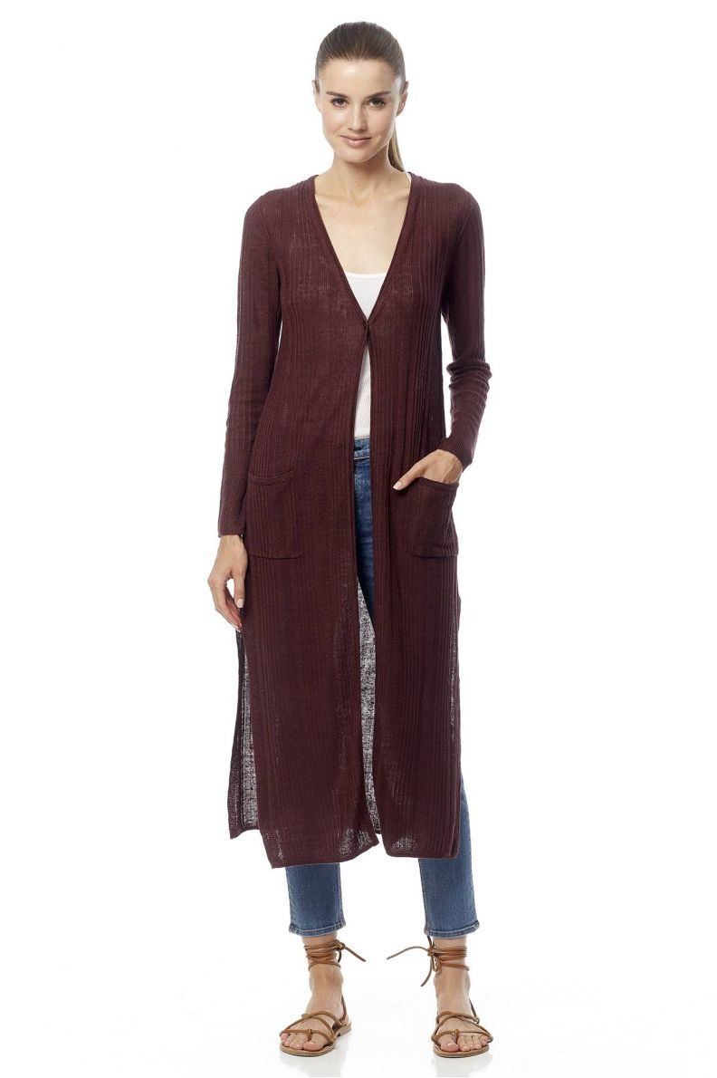 Infinitely versatile, this long semi sheer cardigan makes for a ...