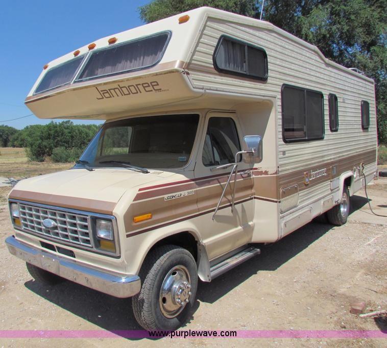 1985 Ford E350 Jamboree Rv Camper In Cunningham Ks Item B7396 Sold Purple Wave In 2020 Rv Campers For Sale Rv Campers Rv Dreams
