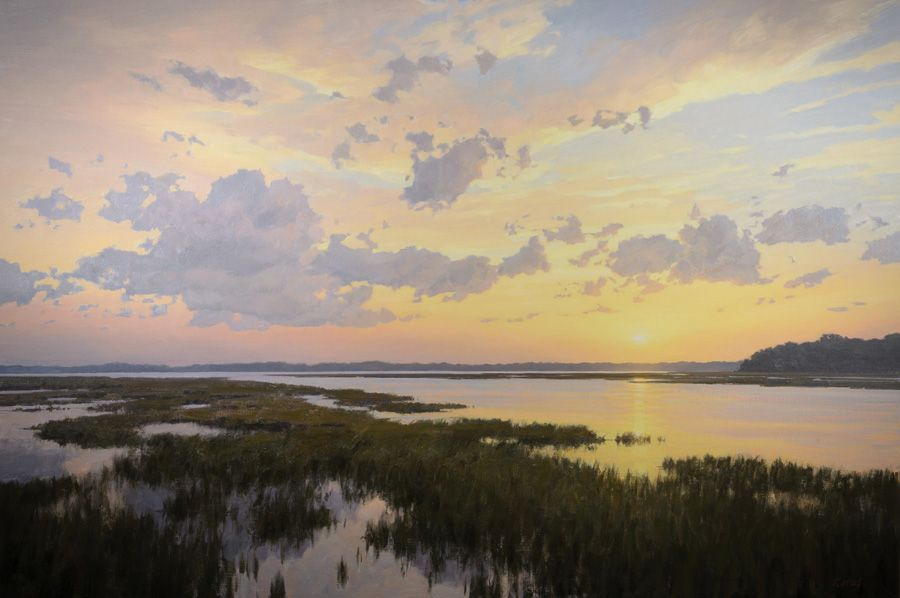"""Oil Painting, """"Lowcountry Enchantment"""" by Michael B. Karas. See more of his work Friday, Nov. 9 at the opening for his one-man show."""