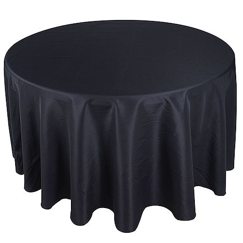 Black 120 Round Tablecloths Polyester Fuzzy Fabric 70 Inch Round Tablecloth 90 Inch Round Tablecloth Table Cloth