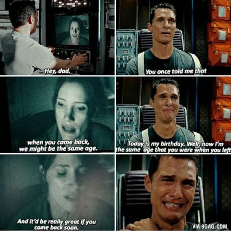 This scene... is the closest I ever got to cry. - Interstellar