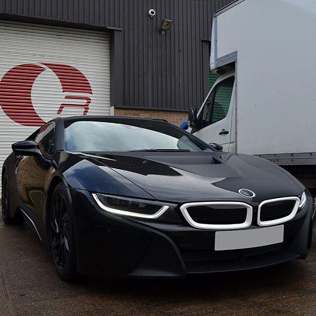Bmw I8, Matte Black Wrap, Bmw Car