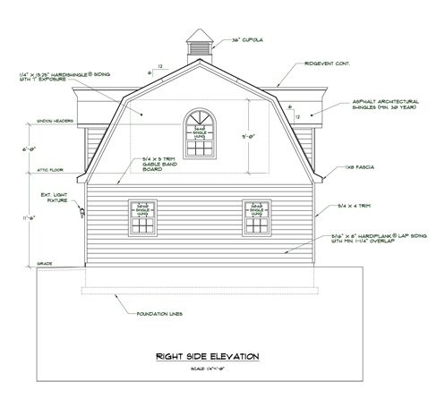 Gambrel Roof 6 12 12 6 Click Here For Larger Pdf File Of This