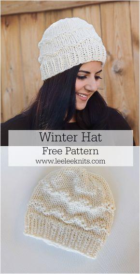 The Coziest Winter Hat Knitting Pattern Shawl Pinterest Cozy