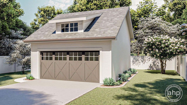 Craftsman Style Garage Plan Whitmore In 2020 Craftsman Style Bungalow Garage Door Design Detached Garage Designs