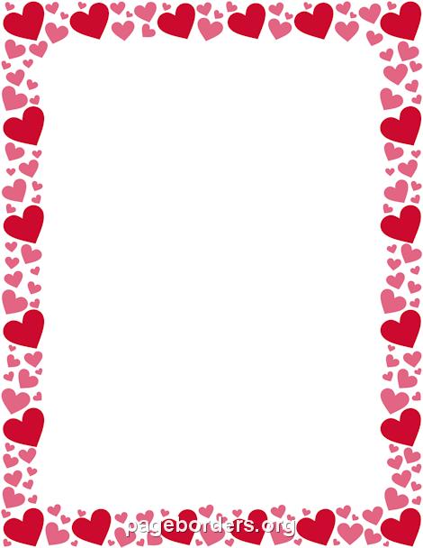 Red And Pink Heart Border Pink Heart Heart Border Scrapbook Frames