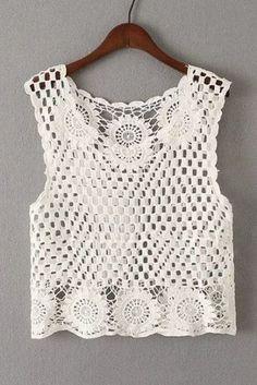 Delicadezas En Crochet Gabriela Blusa Crochet Top Blusas