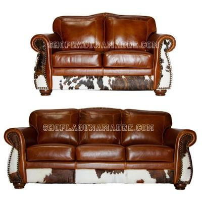 Leather with Cowhide...love it!