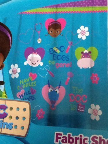 Disney Doc McStuffins New 100 Polyester Shower Curtain