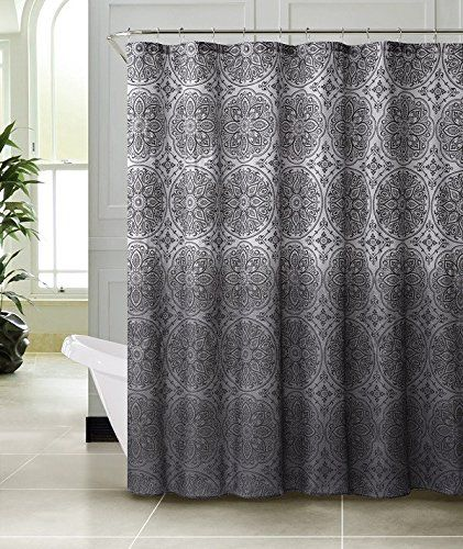 Gray White Textured Style Bathroom Fabric Shower Curtain Bed In A Bag Http