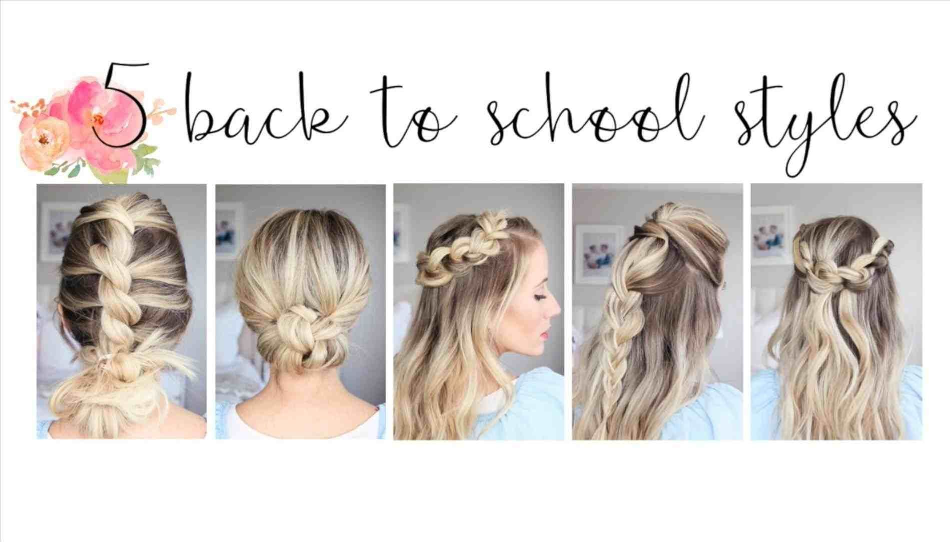 Easy cute easy simple hairstyles for school backtoschool hairstyles