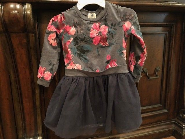 7e468bfb7 Old Navy Toddler Girl Tutu Dress Long Sleeve Gray Floral Fleece Lined Sz 5T  EUC! #fashion #clothing #shoes #accessories #babytoddlerclothing ...