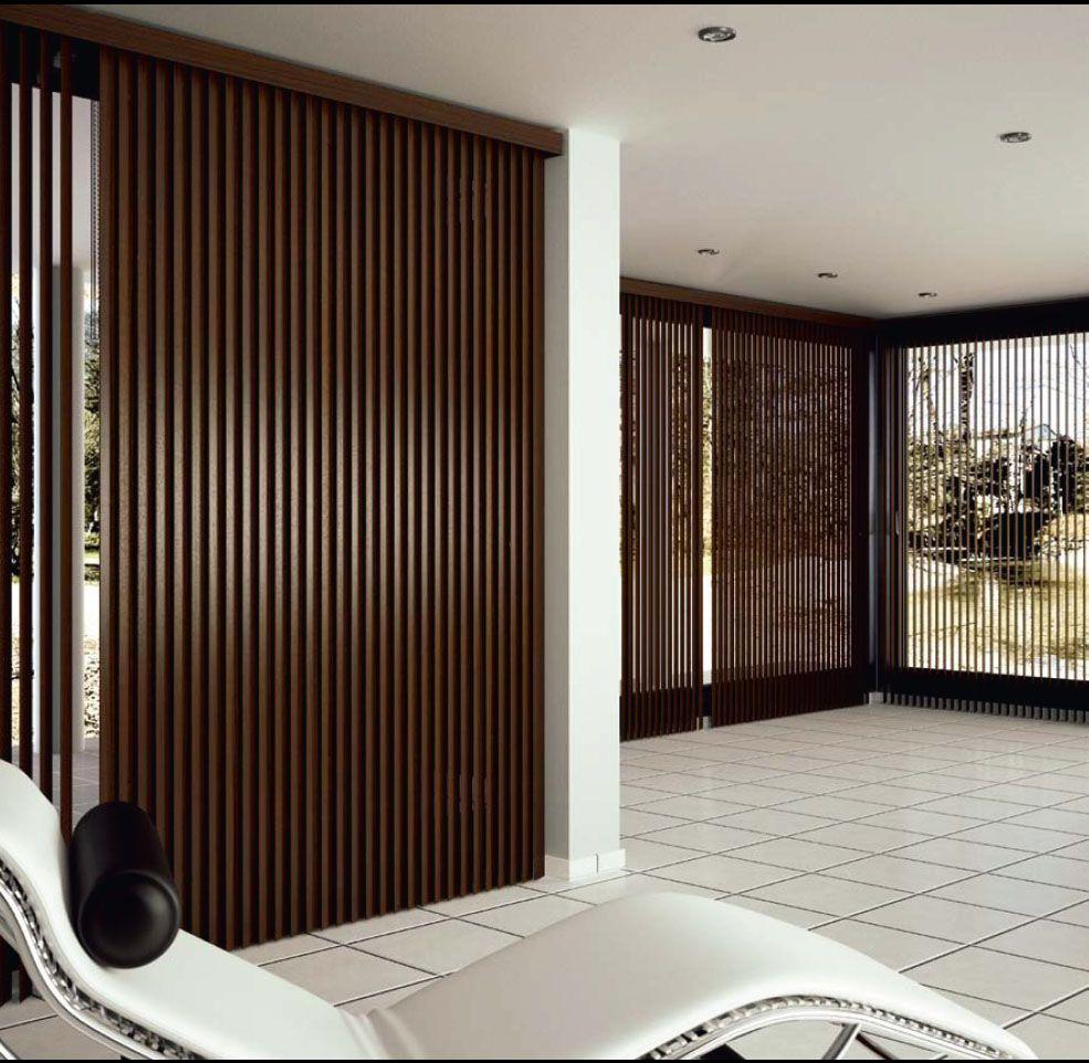 Cortinas verticales madera natural cortinadecor ideas for Persianas de interior