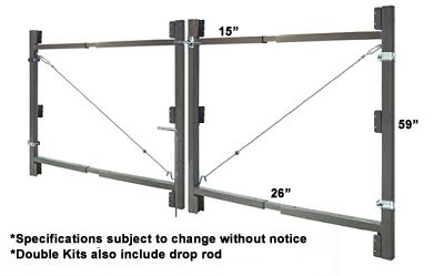 Adjust A Gate Double Swing Gate Kit Prices Gate Kit Wood Fence Gates Wooden Gates Driveway