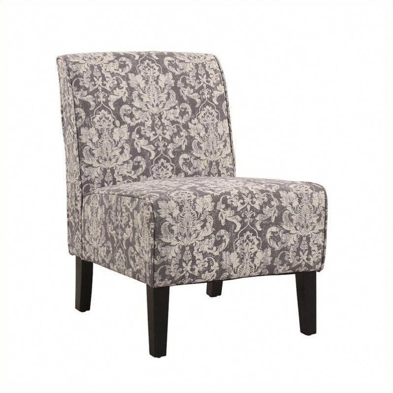 Found It At Cymax Com Accent Fabric Slipper Chair In Gray Floral