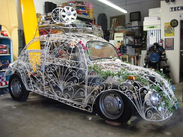 Wedding Bug With Images Art Cars Unique Cars Wrought Iron
