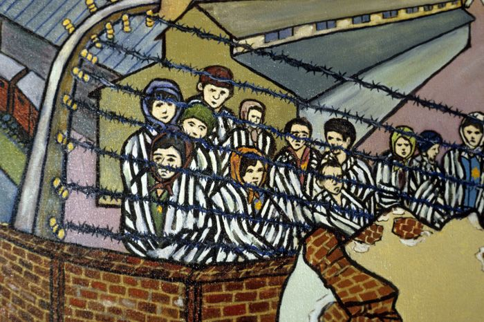 Image result for JEWISH prisoners IN NAZI CAMP CARTOON