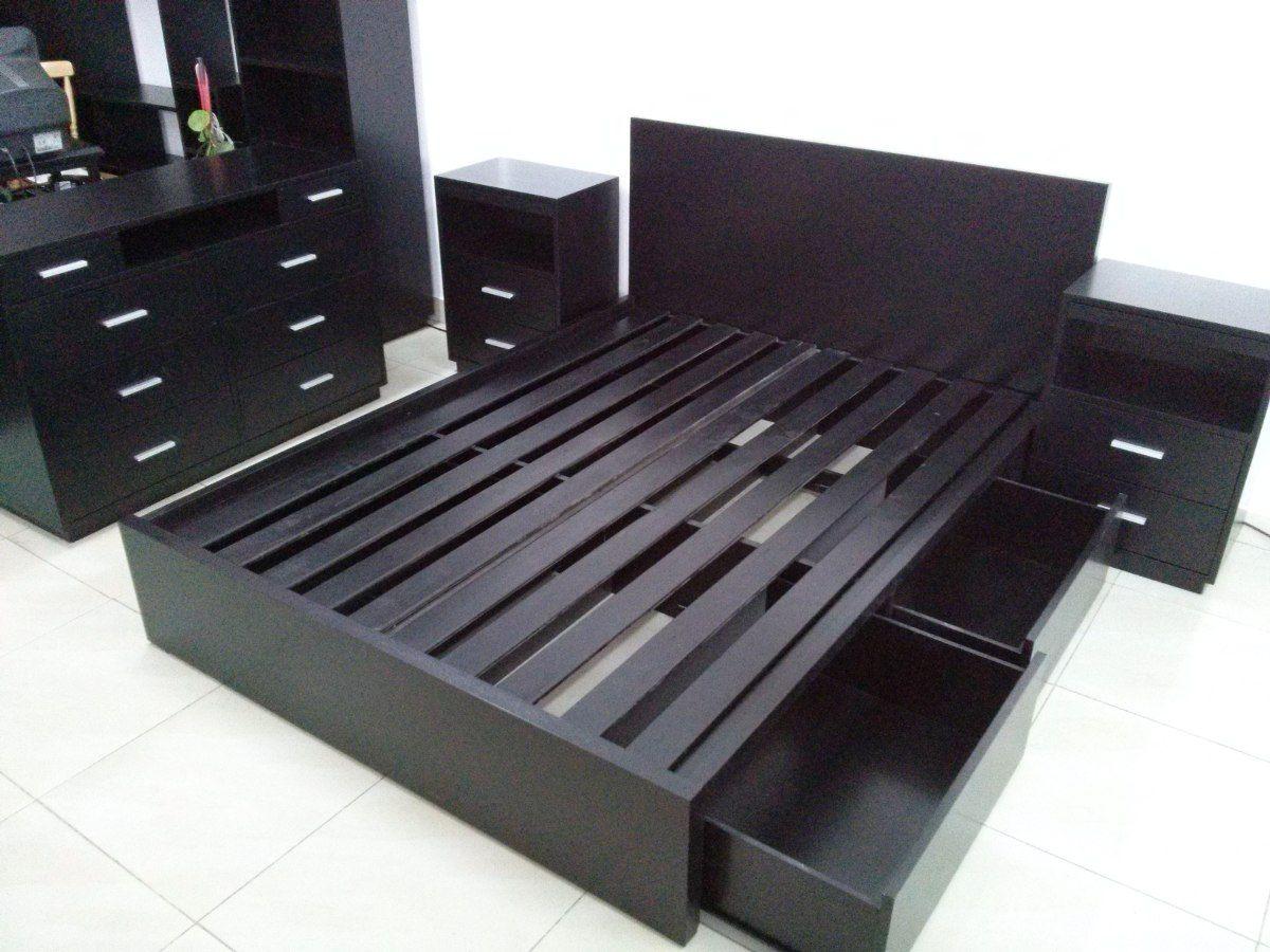 Comoda Moderna Lisa Madera 8 Cajones // Muebles Valentin | Bed ...