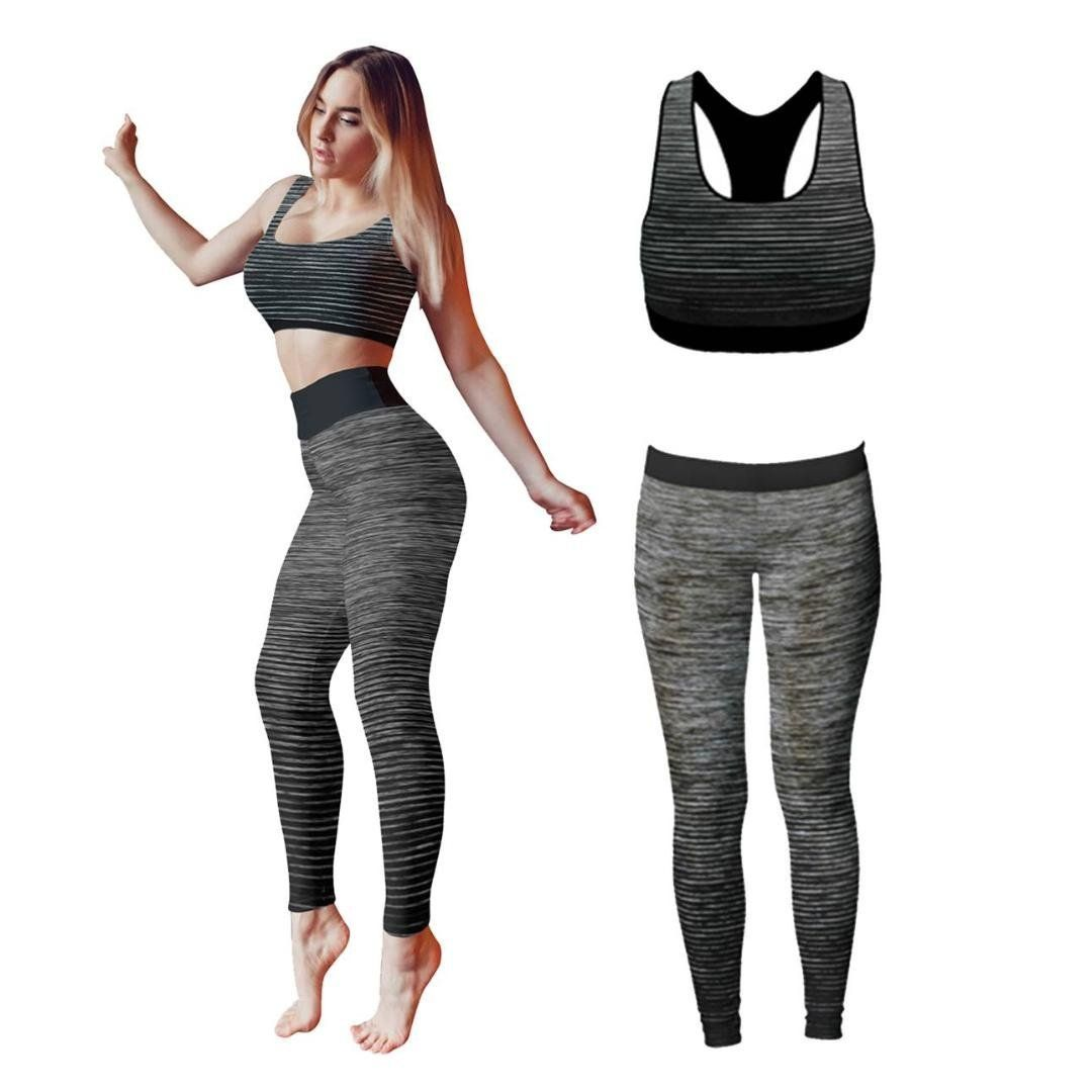 Ladies Vest Top Legging Gym Wear Set Womens Fitness Workout Yoga Sports Clothes