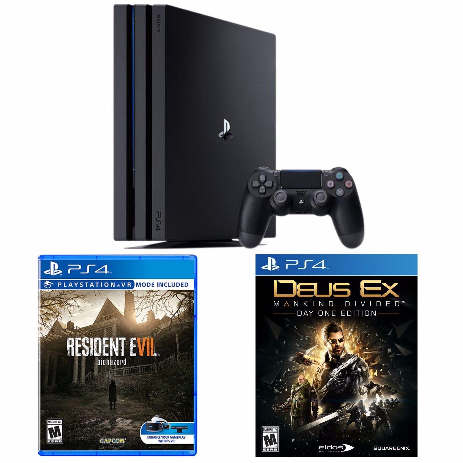 Playstation 4 Pro 1tb Console Resident Evil 7 Biohazard Deus Ex Mankind Divided Deus Ex Mankind Deus Ex Mankind Divided Playstation