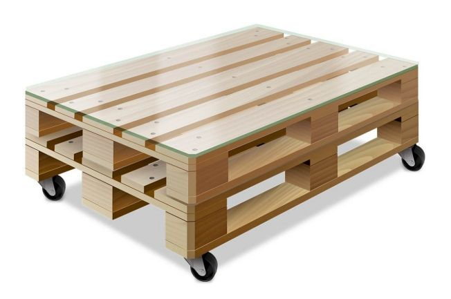 bauen sie einen h bschen tisch aus paletten im angesagten vintage look wie es geht zeigt die. Black Bedroom Furniture Sets. Home Design Ideas