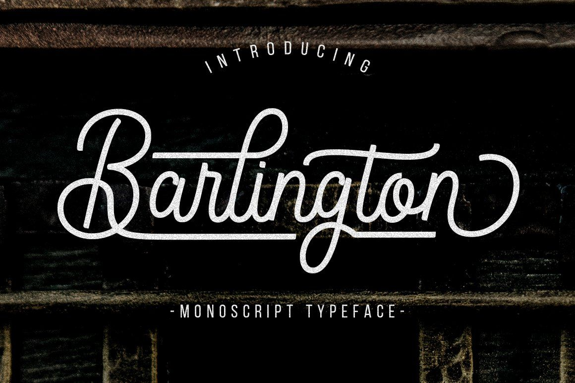 Barlington in 2020 Typeface, Lettering, Script typeface