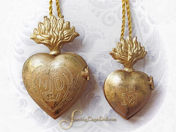 Flaming Heart Ex Voto Necklace