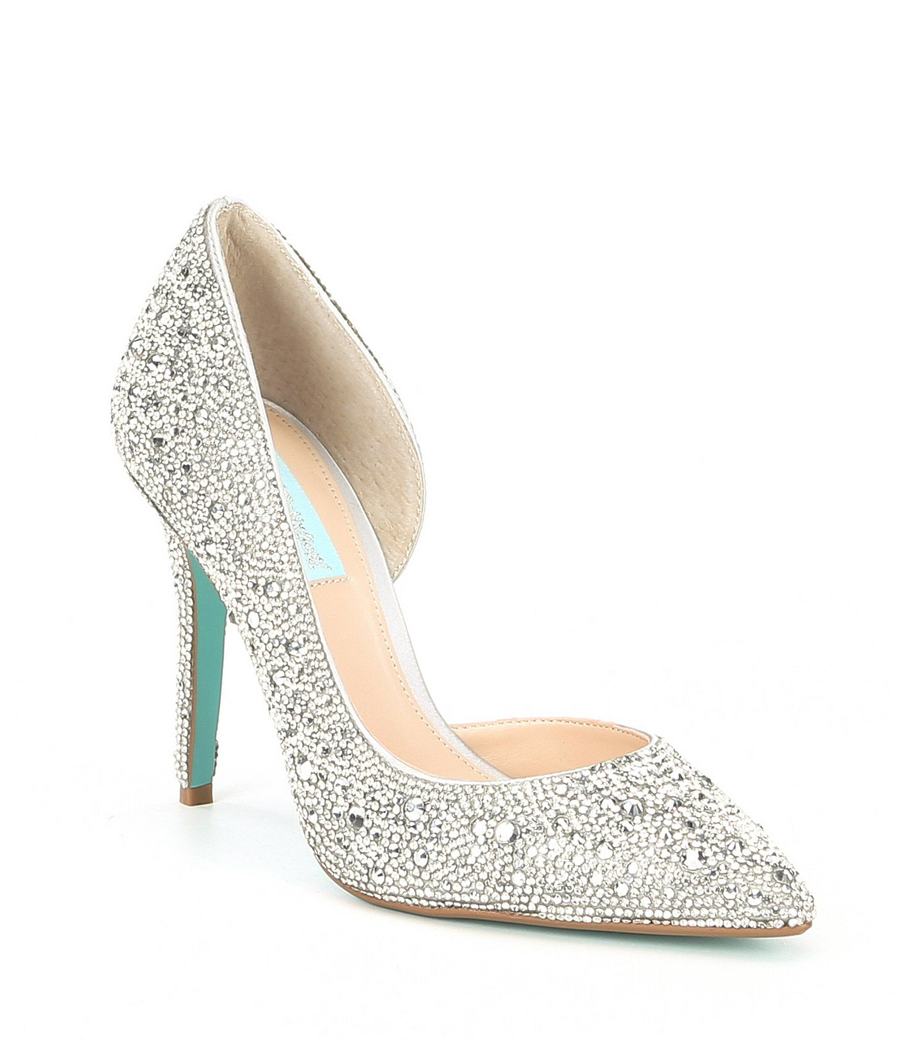 Navy blue dress shoes for wedding  Blue by Betsey Johnson Hazil Jeweled Pumps  shoes  Pinterest