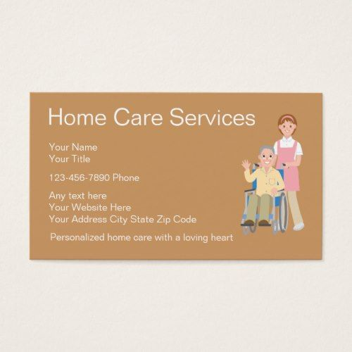 Home Health Business Cards Zazzle Com In 2021 Health Business Home Health Care Home Health Aide
