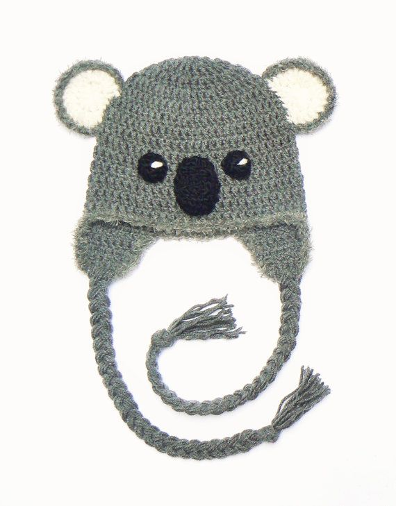 Koala Hat, Crochet hat, Kids Outfit, Baby Hat, Women Hat, Cute Kids ...