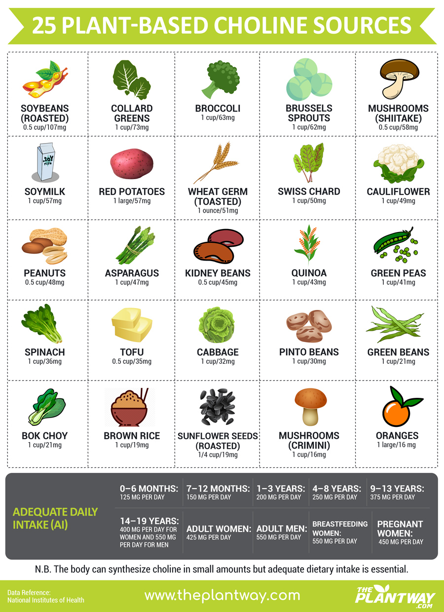 25 Plant-Based (Vegan) Sources of Choline