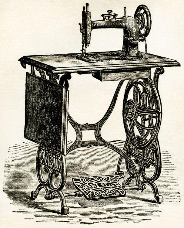 Old Design Shop Free Digital Image Vintage Sewing Machine 40 Simple Vintage Sewing Machines