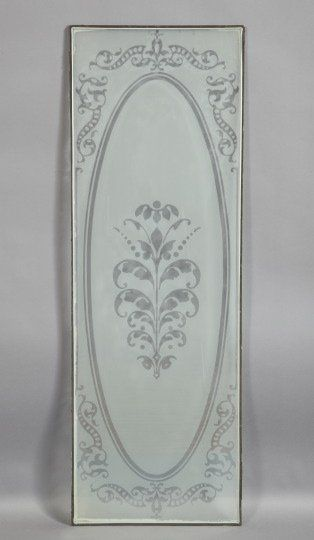 American Stencil Etched Glass Door Panels Inspiration For