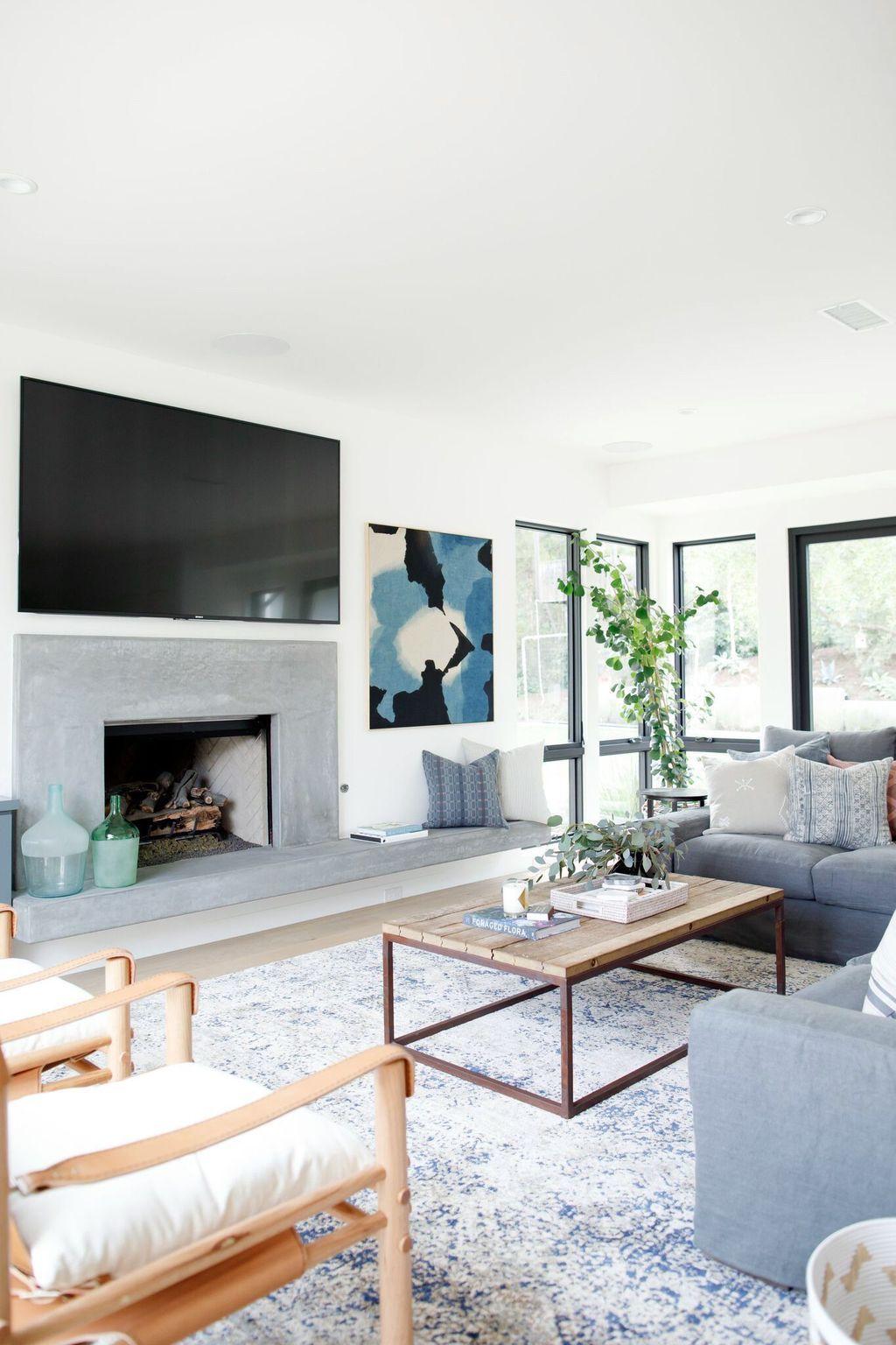 45 Perfect Coastal Living Room Ideas images
