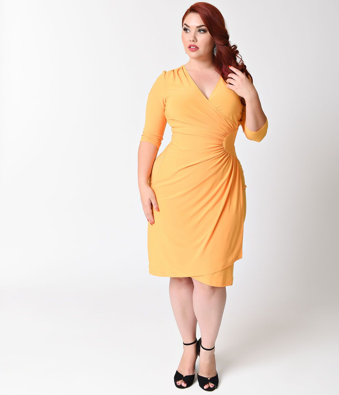 Plus Size Vintage Dresses, Plus Size Retro Dresses | Wrap dresses ...