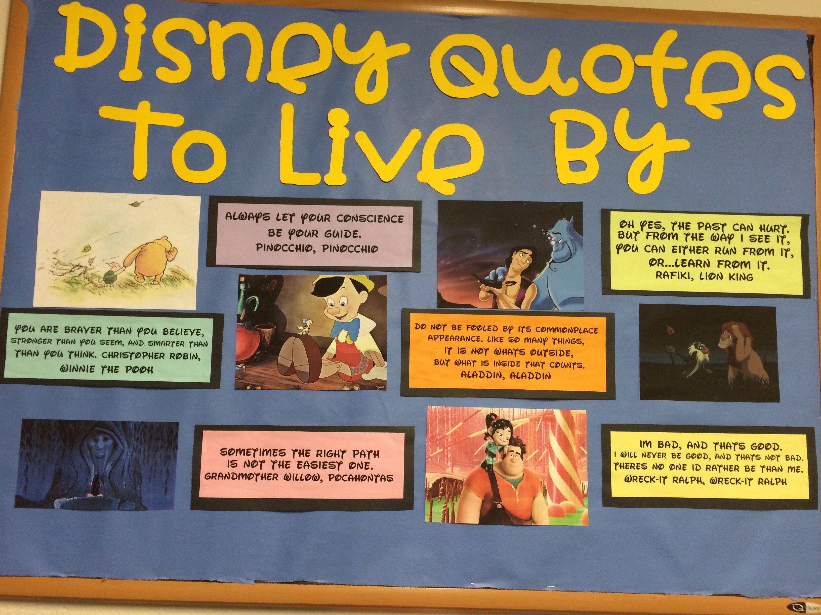 my disney inspirational bulletin board ra ideas pinterest ra