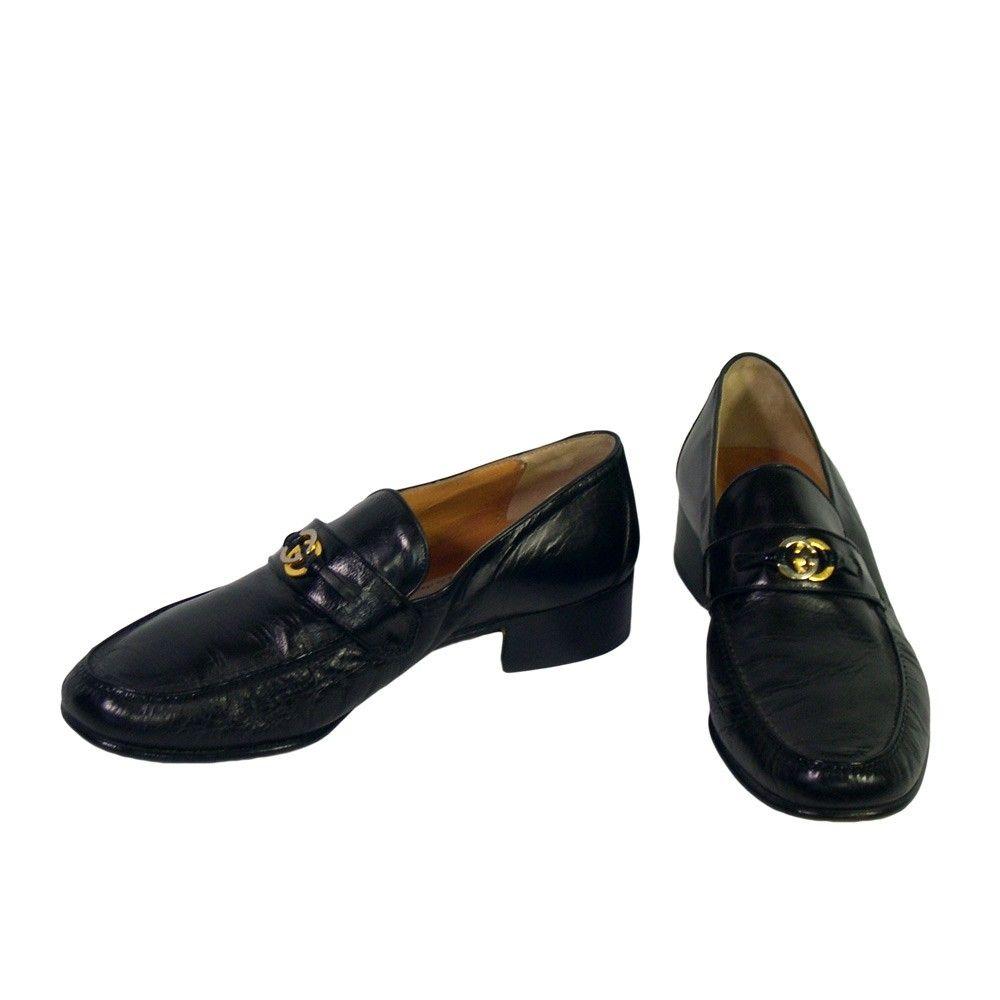 Men s Vintage Gucci Loafer Black Shoes - 1970s  6d470ecef85