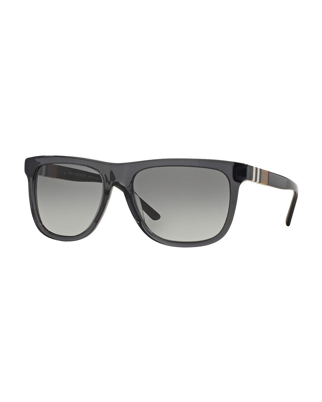 be4ce102956e Men s Rectangular Sunglasses with Check