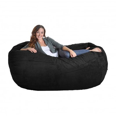 Slacker Sack Bean Bag Sofa Upholstery: Black