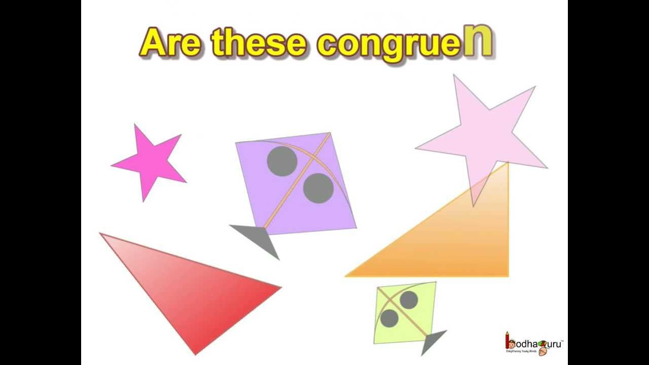 Maths Are These Congruent Figures Understand What Is Congruence Using Different Shapes For More Such Videos Please Vi Math Geometry Math Math Strategies