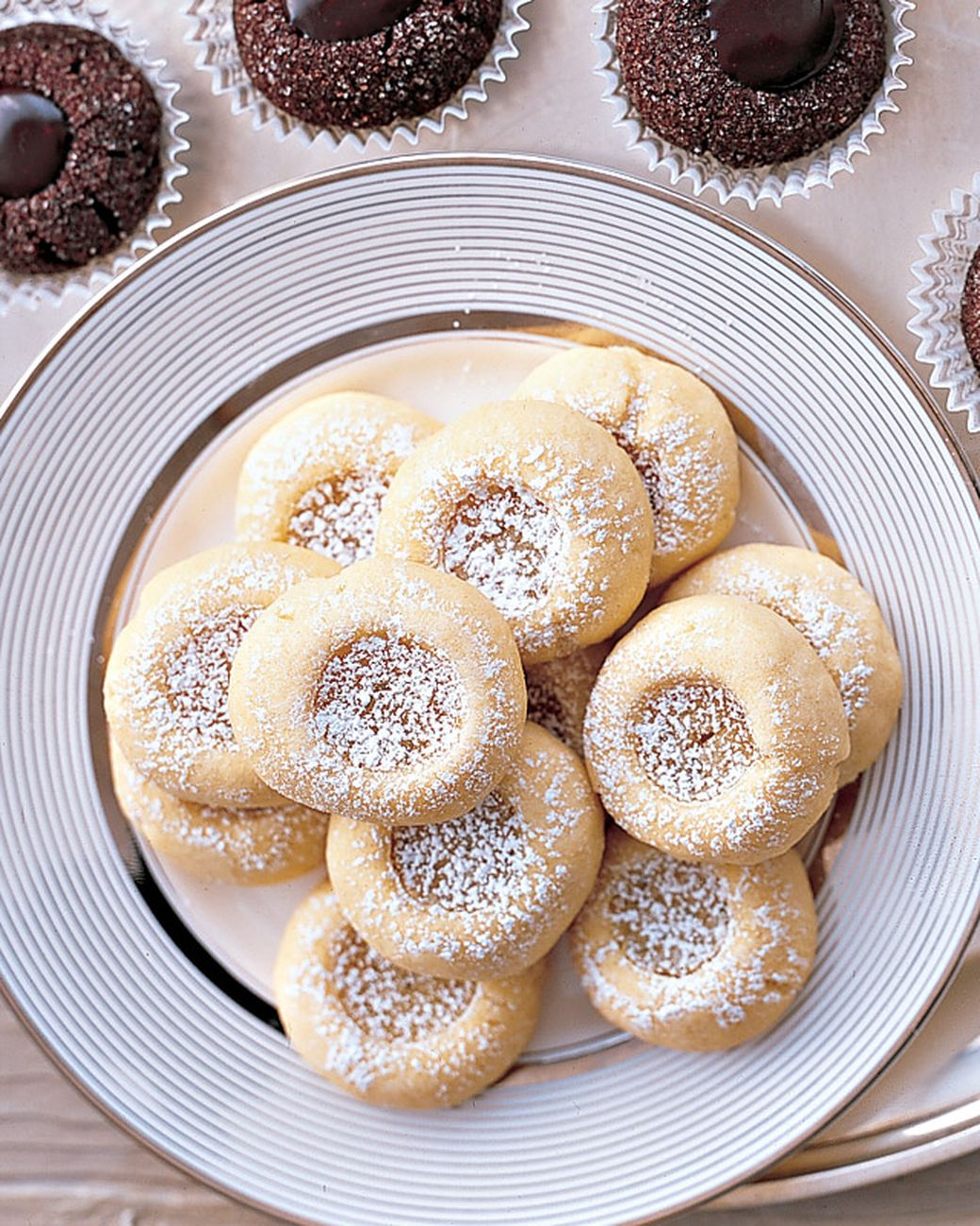 Sweet-tart Key lime thumbprints bring cakey and creamy together in each bite.