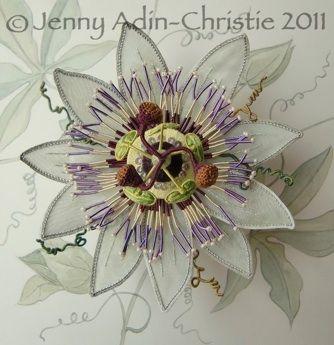 Stumpwork Passiflora Stumpwork Kit Jenny Adin Christie