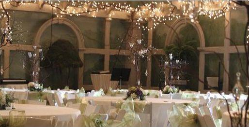 Nichols arbor interior decorated with lights huntsville - Huntsville botanical gardens wedding ...