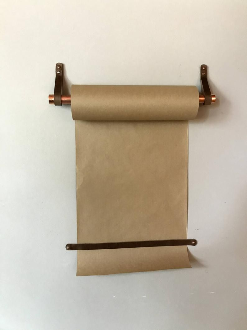 Hanging Note Roll Paper Roll For Walls Kraft Paper Holder Etsy In 2020 Paper Holder Kraft Paper Rolled Paper