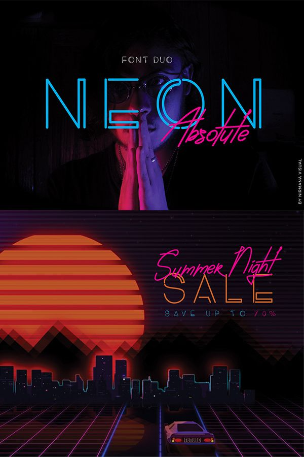 Neon Absolute  Font Duo is part of Neon typography design, Neon design, Neon typography, Neon, Neon logo, Advertising design - Download Neon Absolute  Font Duo today! We have a huge range of Script Font products available  Commercial License Included