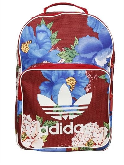 d04d22ab5 ADIDAS ORIGINALS BY FARM FLOWER PRINTED NYLON BACKPACK, RED/BLUE.  #adidasoriginalsbyfarm #bags #nylon #backpacks #lace #