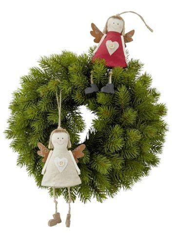 Dekorativer Kranz aus Kunststoff in Grün - für weihnachtliche Stimmung