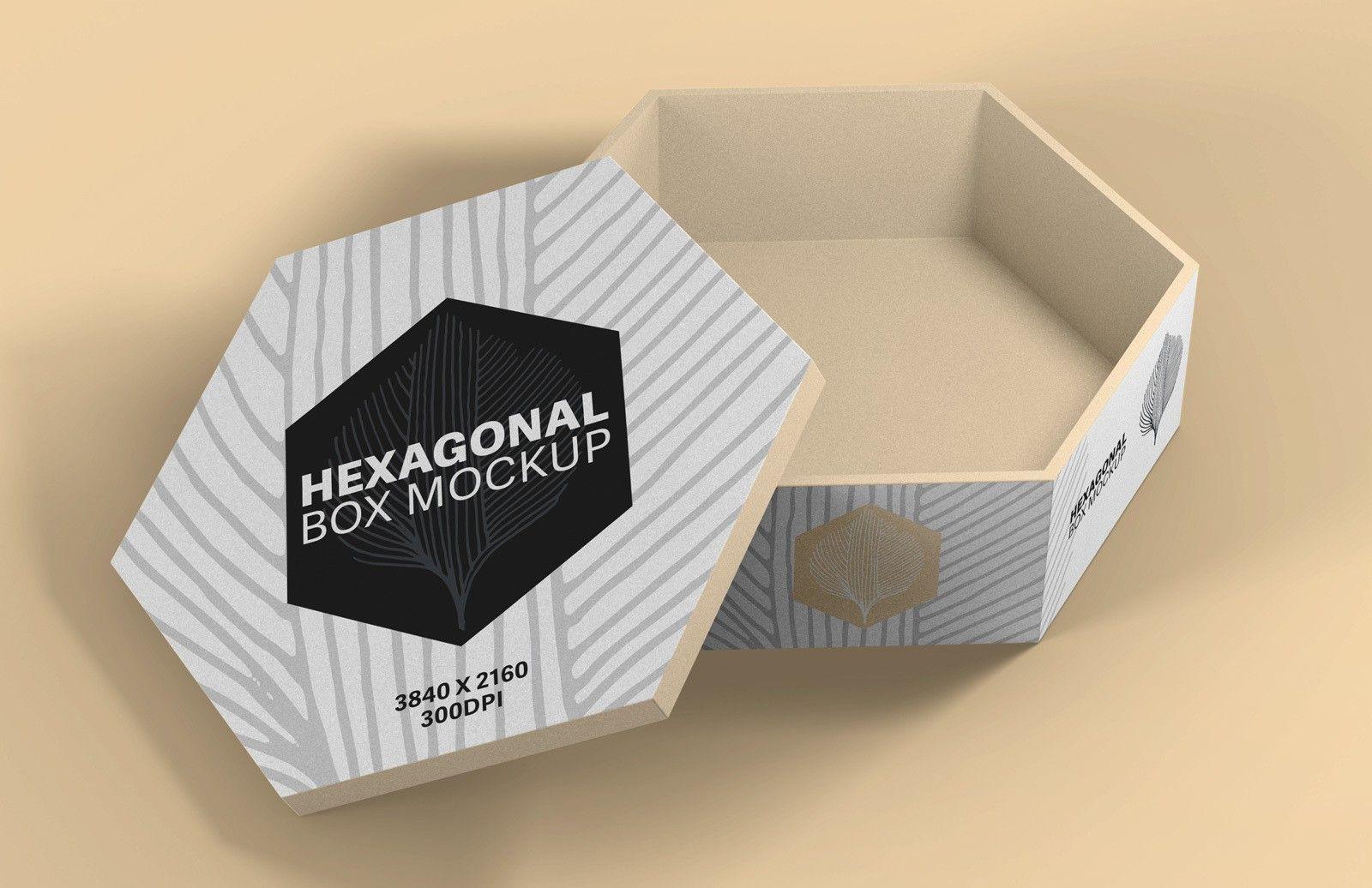 Download Hexagonal Box Mockup Box Mockup Mockup Covered Boxes