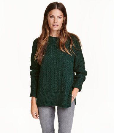 Pullover | Dunkelgrün | Damen | H&M AT
